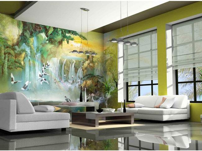 Lưu ý khi vẽ tranh tường phòng khách