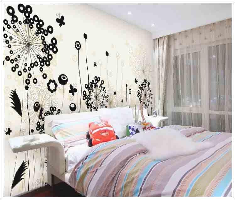 Vẽ tranh tường là mẹo trang trí phòng ngủ rất hiệu quả