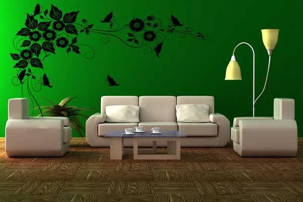 Màu lục mang nhiều ý nghĩa trong tranh tường